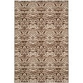 Metropolis Tiger Cream/ Brown Rug (5'3 x 7'11)