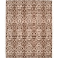 Metropolis Tiger Cream/ Brown Rug (8' x 10')