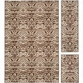 Metropolis Tiger Cream/ Brown Rug (Set of 3)