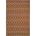 Metropolis Diamonds Brown Rug (3'3 x 5')