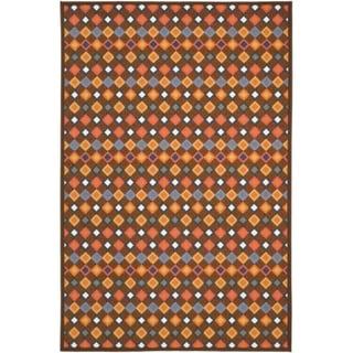 Safavieh Metropolis Diamonds Brown Rug (5'3 x 7'11)