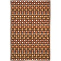 Metropolis Diamonds Brown Rug (5'3 x 7'11)