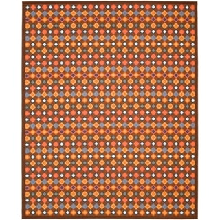 Metropolis Diamonds Brown Rug (8' x 10')