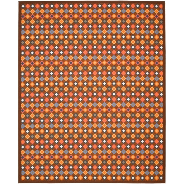 Safavieh Metropolis Diamonds Brown Rug (8' x 10')