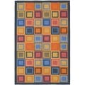 Metropolis Blocks Blue Rug (3'3 x 5')