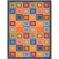 Safavieh Metropolis Blocks Blue Rug (4'7 x 6'6)