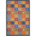 Metropolis Blocks Blue Rug (5'3 x 7'11)