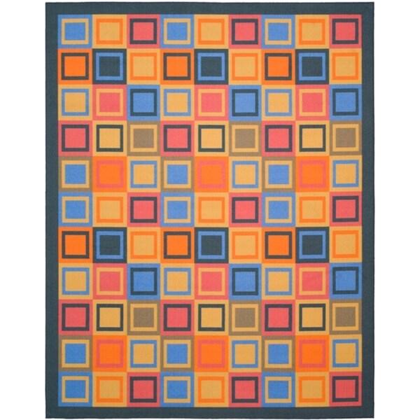 Safavieh Metropolis Blocks Blue Rug (8' x 10')
