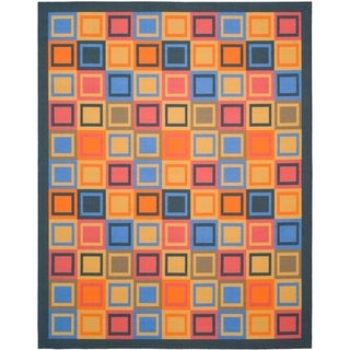Metropolis Blocks Blue Rug (8' x 10')