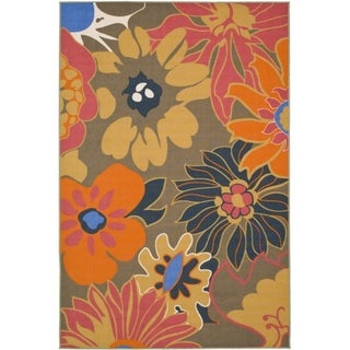 Metropolis Botanical Brown Rug (5'3 x 7'11)