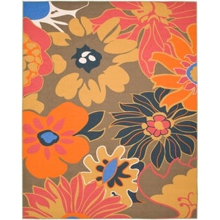 Metropolis Botanical Brown Rug (8' x 10')