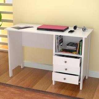Inval White Modern Straight Desk