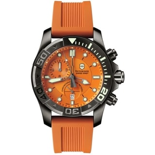 Victorinox Swiss Army Men's Dive Watch 500 Orange Dial Watch