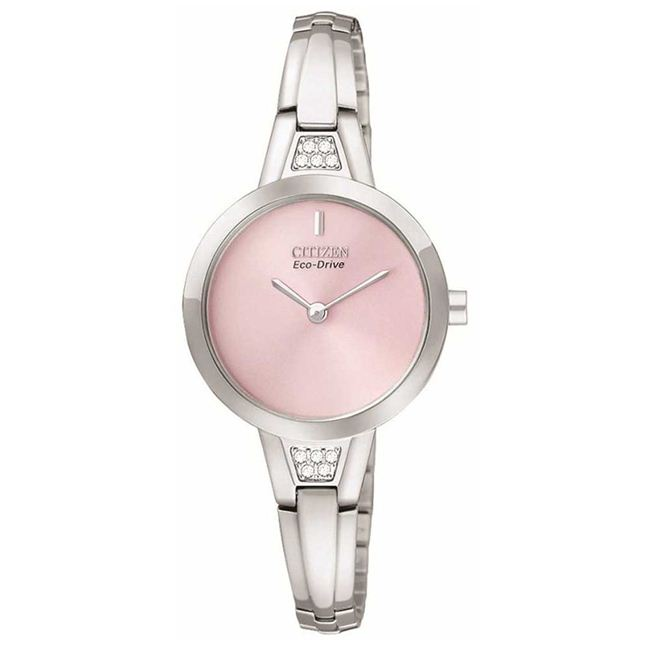 Citizen Women's Silhouette Crystal Pink Dial Watch