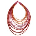 Sunset Multi-strand Large Bib Necklace (India)