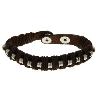 Leather Beaded Bracelet (India)