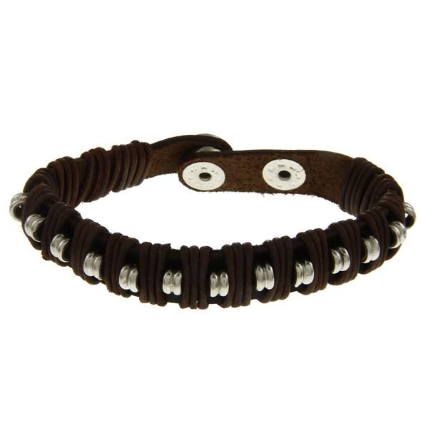 Leather Beaded Bracelet (India)