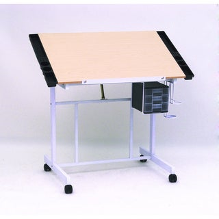 Studio Designs White / Maple Deluxe Craft Station in UPS Box