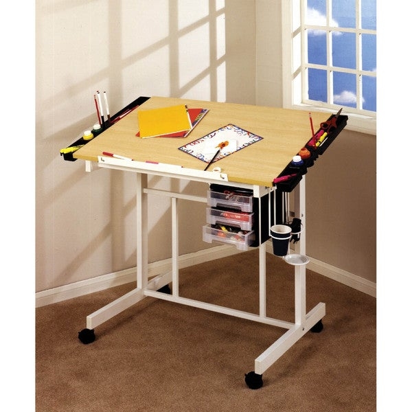 Studio Designs UPS Box White/ Maple Deluxe Craft Station