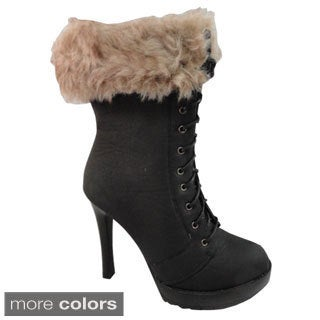 Bucco 'Thera' Women's Lace-up and Faux Fur Boots