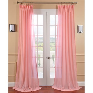 Blossom Faux Linen Sheer Curtain Panel