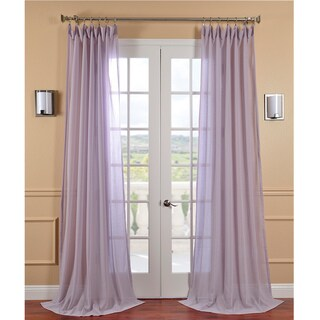 Lilac Haze Faux Linen Sheer Curtain Panel