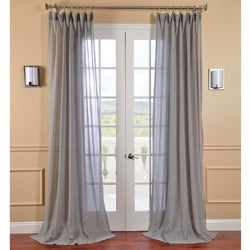 Nickel Faux Linen Sheer Curtain Panel