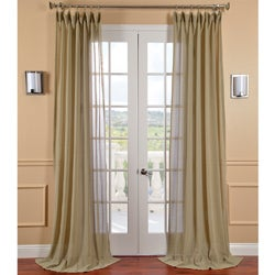 Sage Faux Linen Sheer Curtain Panel