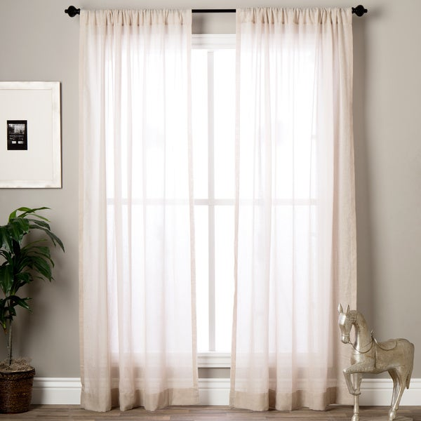 Exclusive Fabrics Tumbleweed Faux Linen Sheer Curtain Panel