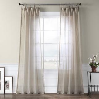 Exclusive Fabrics Tumbleweed Faux Linen Sheer Curtain Panel