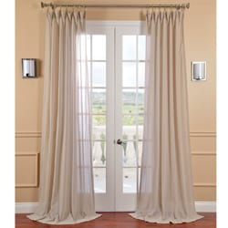 Tumbleweed Faux Linen Sheer Curtain Panel