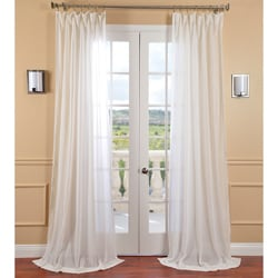 Exclusive Fabrics Gardenia Faux Linen Sheer Curtain Panel