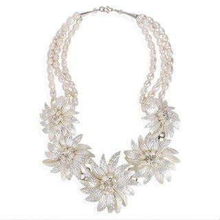 Dancing Petals Natural Shell Wildflower Necklace (Thailand)