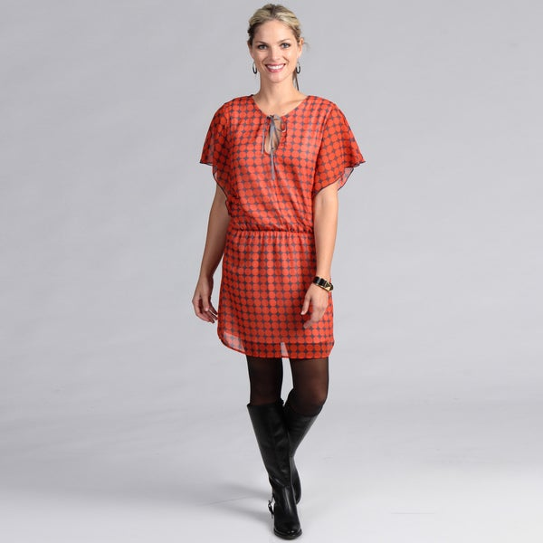 Institute Liberal Women's Red Cap Sleeve Dress