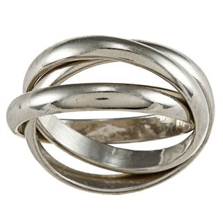 City Style Silvertone Polished Stackable Band