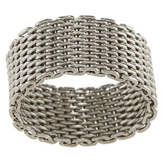 City Style Silvertone Mesh Ring
