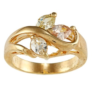 City Style Goldtone Clear Cubic Zirconia Ring