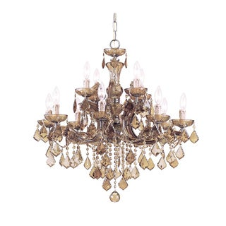 Maria Theresa 12 light Antique Brass Chandelier