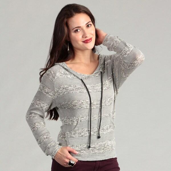 Institute Liberal Women's Grey Sweater Knit Hoodie