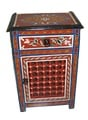 Hand-painted Arabesque Wooden Storage Cabinet (Morocco)