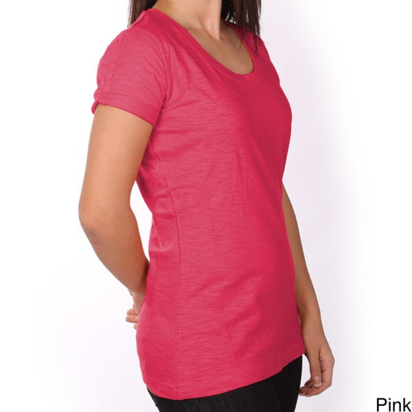 Dickies Ladies Slub Jersey Scoop Neck Tee