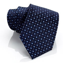 H. Luzzario & Co Blue Pin-Dot Lavoro Tie