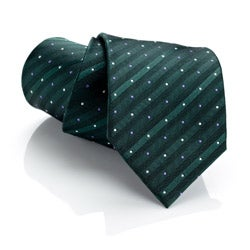 H. Luzzario & Co Green Stripe Bello Tie