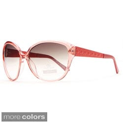 Anais Gvani Oversized Fashion Sunglasses with Quilt-like Texture Design on Side