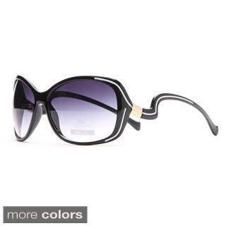 Anais Gvani Outlined Fashion Sunglasses with Curvy Details