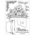 Honeypop Clear Stamp Set-Potted Violets