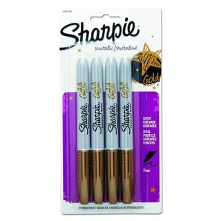 Sharpie Metallic Permanent Markers 4/Pkg-Gold