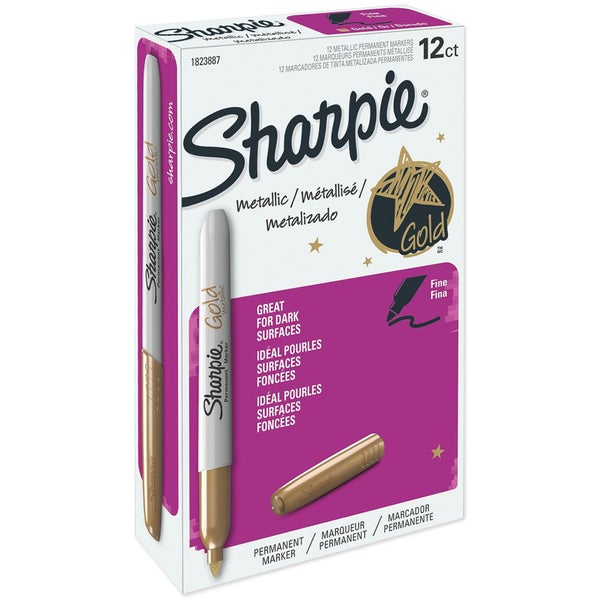 Sharpie Metallic Permanent Marker 12/Pkg-Gold