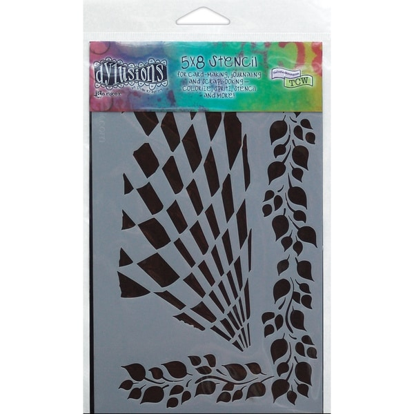 "Dyan Reaveley's Dylusions Stencils 5""X7""-Luscious Leaves"