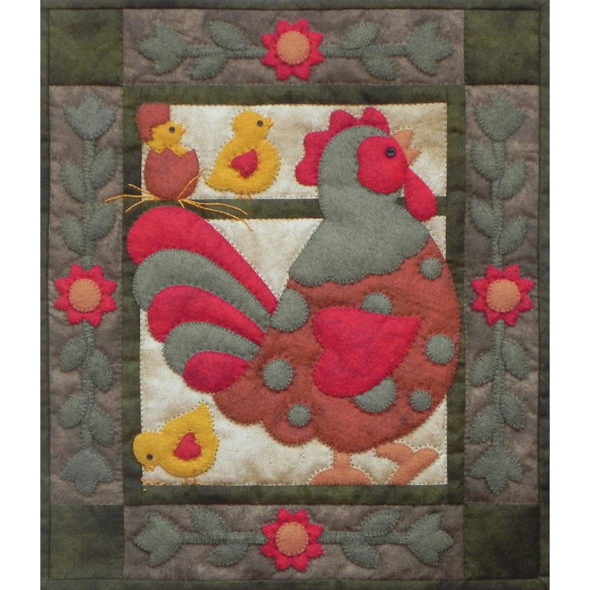 "Spotty Rooster Wall Quilt Kit-13""X15"""